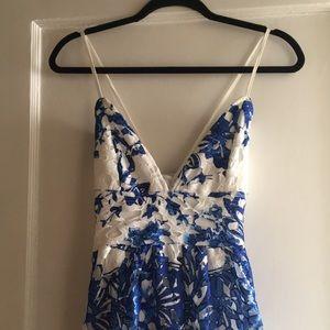 NWOT Floral Lace Spaghetti Strap Dress